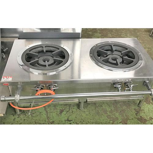 【中古】外管式スープレンジ マルゼン ML-SG-126 幅1200×奥行600×高さ430 都市ガス 【送料無料】【業務用】