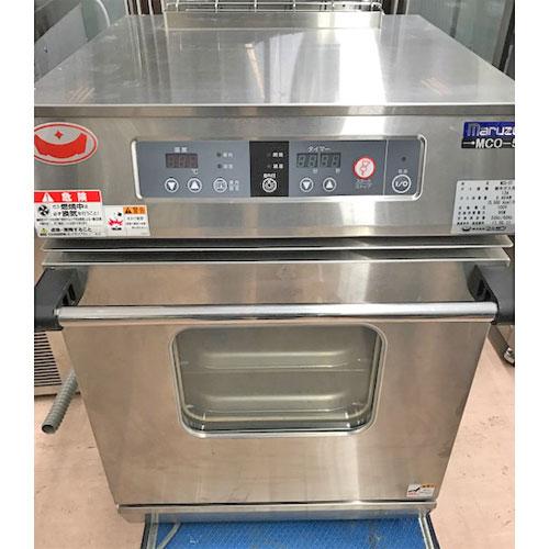 【中古】ガスコンベクションオーブン マルゼン MCO-5T 幅470×奥行570×高さ675 都市ガス 【送料無料】【業務用】