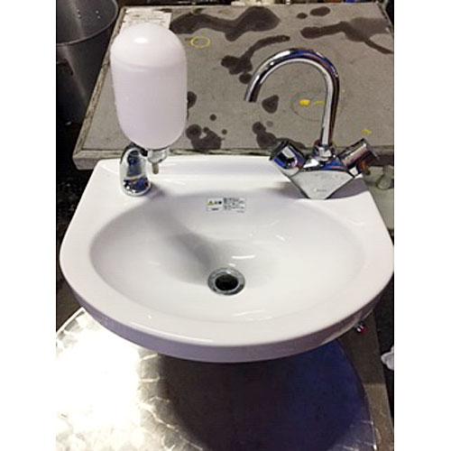 【中古】手洗い器 幅420×奥行330×高さ160 【送料別途見積】【業務用】