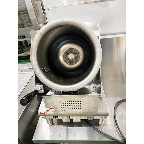 【中古】ロータリークッカー マルゼン RCG-230 幅370×奥行450×高さ560 都市ガス 【送料別途見積】【業務用】