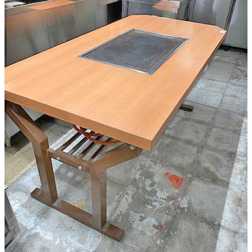 【中古】お好み焼きテーブル 幅1500×奥行750×高さ700 LPG(プロパンガス) 【送料別途見積】【業務用】