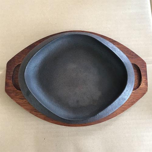 【中古】ステーキ皿木台付き 幅250×奥行20 【送料無料】【業務用】