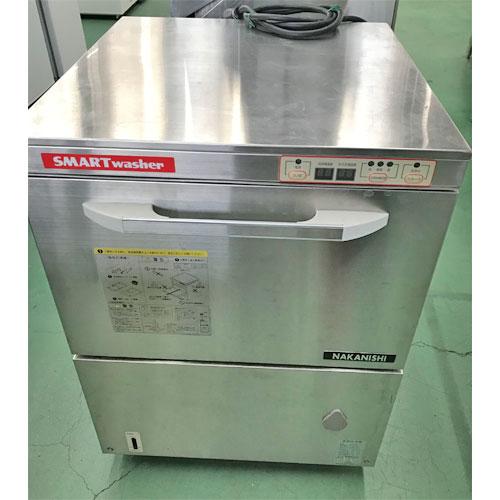 【中古】食器洗浄機 中西製作所 AU-70-2 幅600×奥行600×高さ800 三相200V 60Hz専用 【送料別途見積】【業務用】