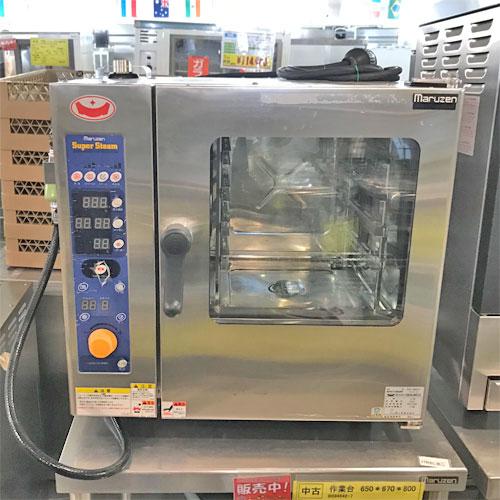 松山店 2020 10 格安 20-R 中古 スチームコンベクションオーブン 幅640×奥行560×高さ590 SSC-04MSC 売却 業務用 送料無料 マルゼン 三相200V