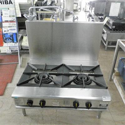 【送料無料】【中古】【業務用】 ガス式スープレンジ KXY-975L2 幅900×奥行750×高さ450 都市ガス