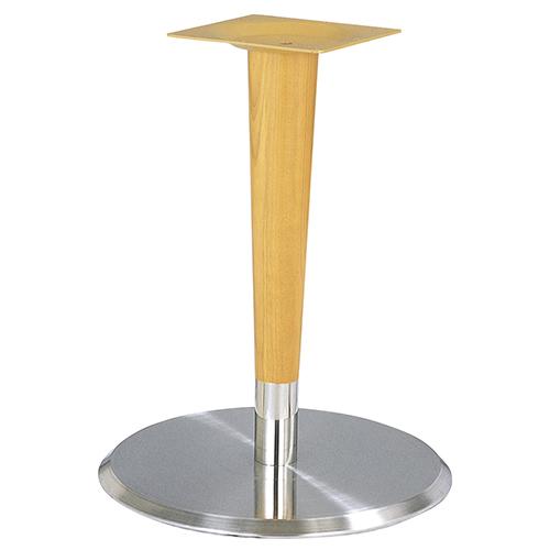 ハヤシ ステンレスH.Lベーステーブル脚 ベースサイズ:A400φ×高さ625mmと675mmのみ 品番:RS-5D-WP(ステンレスH・L) 塗装カラー:NT ポール:ラバーウッド/送料別