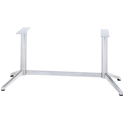 ハヤシ アルミ鋳物テーブル脚 ベースサイズ:A608×B185×高さ700mm迄指定可×間口 芯々 1000mm 送料別 塗装カラー:18 5%OFF 品番:DC-V-350 ポール:76φ 2020モデル
