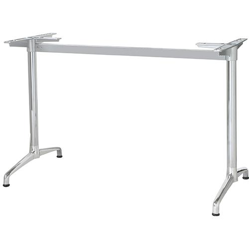 ハヤシ アルミ鋳物テーブル脚 ベースサイズ:A703×高さ700mm迄指定可×間口(芯々)1300mm 品番:CL-AS-700 塗装カラー:11 ポール:42φ/送料別