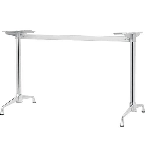 ハヤシ アルミダイキャストテーブル脚 ベースサイズ:A600×高さ700mm迄指定可×間口(芯々)1000mm 品番:SS-LS-600 塗装カラー:11 ポール:42φ/送料別