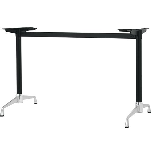ハヤシ アルミダイキャストテーブル脚 ベースサイズ:A750×高さ700mm迄指定可×間口 芯々 1600mm 塗装カラー:14AM 品番:SS-LS-750 5%OFF 激安通販販売 ポール:42φ 送料別