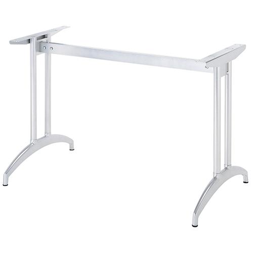 ハヤシ アルミ鋳物テーブル脚 ベースサイズ:A590×高さ700mm迄指定可×間口(芯々)1300mm 品番:K-N-580 塗装カラー:88 ポール:32φ/送料別