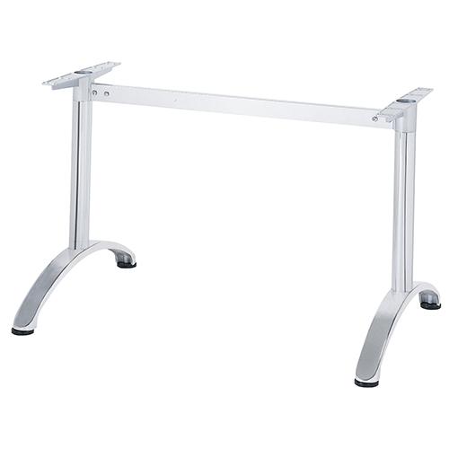 迅速な対応で商品をお届け致します ハヤシ アルミ鋳物テーブル脚 ベースサイズ:A750×高さ700mm迄指定可×間口 芯々 1600mm 品番:BC-S-750 塗装カラー:11 送料別 ポール:60φ 超人気