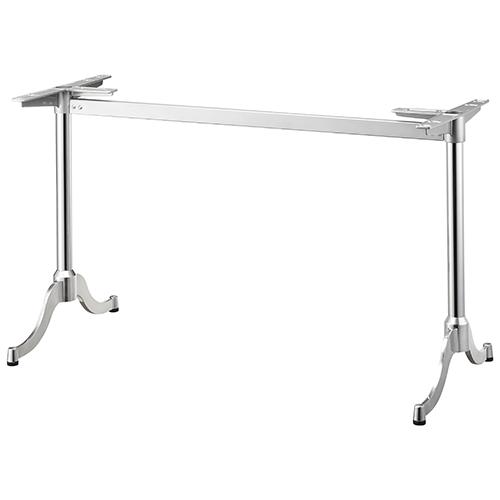 ハヤシ アルミダイキャストテーブル脚 ベースサイズ:700×高さ700mm迄指定可×間口(芯々):1300mm 品番:MD-S-700 塗装カラー:11 ポール:60φ/送料別
