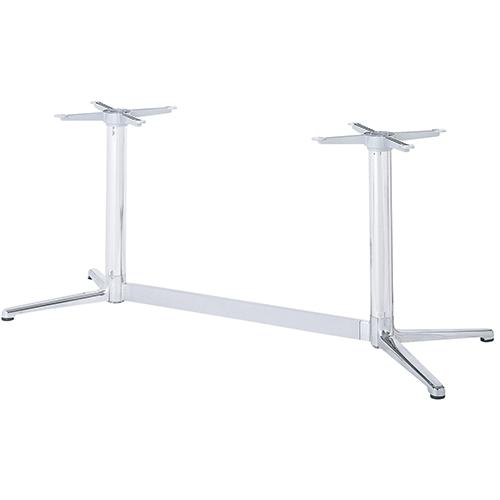 ハヤシ アルミダイキャストテーブル脚 割り引き ベースサイズ:A445×B220×高さ700mm迄指定可×間口 芯々 1000mm 塗装カラー:11 ポール:76φ セットアップ 品番:BT-V-300 送料別