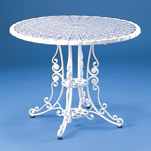 ハヤシ GARDEN CHAIR & TABLE テーブル(ビニールマット付) サイズ:径840×高さ660mm 品番:HOTテーブル /送料別