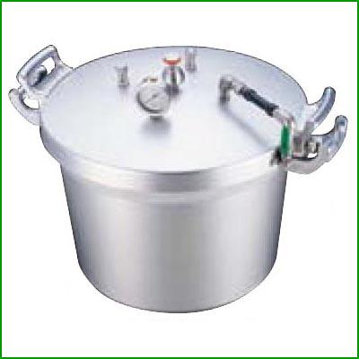 SA アルミ 業務用圧力鍋(第2安全装置付) 40L [3-0057-0102] 【業務用】【送料無料】