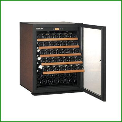 【業務用/新品】 ユーロカーブ ワインセラー クラシック(ガラス扉) 79本収納  V083C-PTHF W654×D689×H876mm 【送料無料】