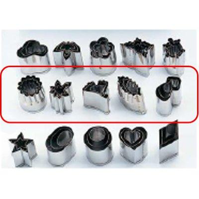 ステン手作り 生抜5種セット(各種3pcs) 菊、紅葉、銀杏、木の葉、松茸/業務用/新品/小物送料対象商品