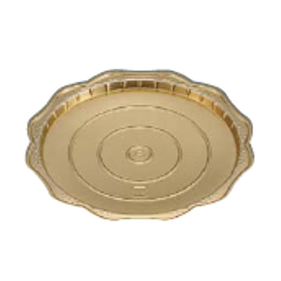 Gリーフゴールド デコトレー 丸40(200枚入)/業務用/新品/小物送料対象商品