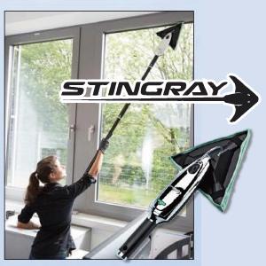 (窓拭き 掃除 高所 モップ)スティングレイインドアクリーニングキット SRKT3B