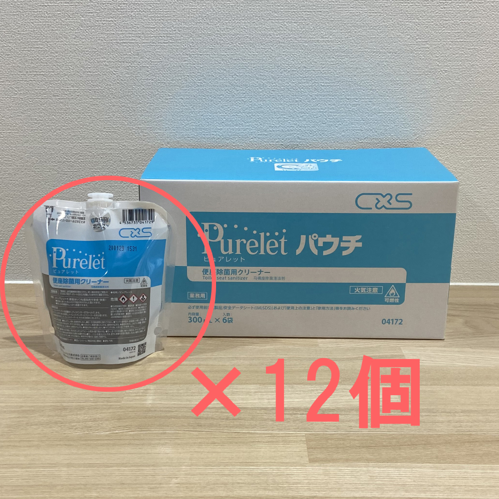 ピュアレット 詰め替え 300ml 2箱(12袋入り) 【トイレ 便座 クリーナー 除菌スプレー】
