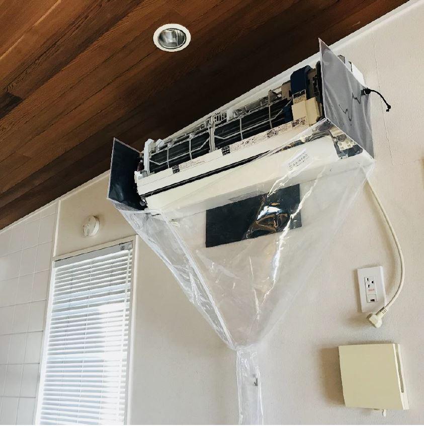 壁掛用エアコン洗浄用シート オープン型 エアコンカバーサービス
