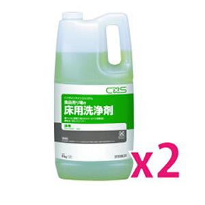 シーバイエス BIOエムエス 食品売り場の床用洗浄剤 4L フロアクリーナー キッチン厨房用 滑り防止 ヌメリ防止 臭気低減用 2本セット