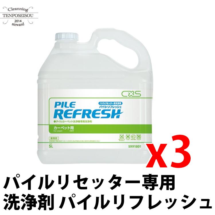 シーバイエス パイルリセッター専用洗浄剤 パイルリフレッシュ5L×3