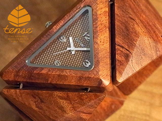 テンス【tense】トライアングルブレスレットモデル No.423 ローズウッド使用1971年創業のカナダ木工専門技を結集し、匠が創り上げたTENSE木製腕時計(ウッドウォッチ)。テンス社日本総輸入元公式販売サイト。【日本総輸入元のメンテナンス保証付】