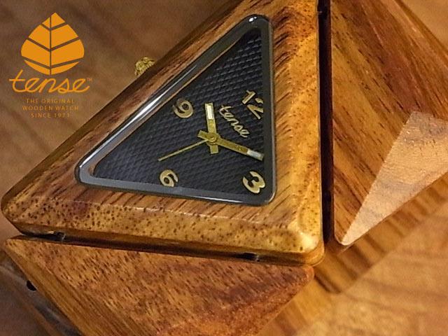 テンス【tense】トライアングルブレスレットモデル No.424 チーク使用1971年創業のカナダ木工専門技を結集し、匠が創り上げたTENSE木製腕時計(ウッドウォッチ)。テンス社日本総輸入元公式販売サイト。【日本総輸入元のメンテナンス保証付】