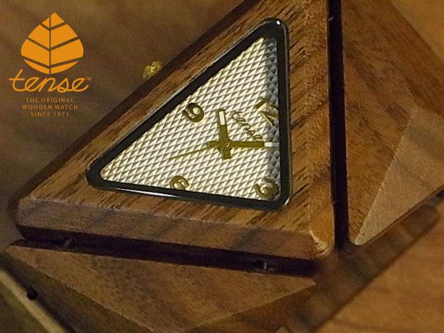 テンス【tense】トライアングルブレスレットモデル No.427 ウォルナット使用1971年創業のカナダ木工専門技を結集し、匠が創り上げたTENSE木製腕時計(ウッドウォッチ)。テンス社日本総輸入元公式販売サイト。【日本総輸入元のメンテナンス保証付】
