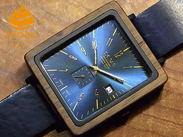 テンス【tense】グランスクエアモデル No.494 ウォルナット使用1971年創業のカナダ木工専門技を結集し、匠が創り上げたTENSE木製腕時計(ウッドウォッチ)。テンス社日本総輸入元公式販売サイト。【日本総輸入元のメンテナンス保証付】