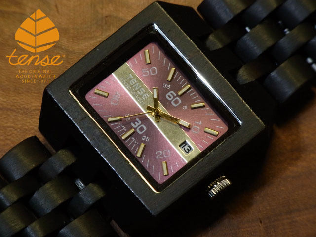 テンス【tense】カンヴァスモデル No.387 ダークサンダルウッド使用1971年創業のカナダ木工専門技を結集し、匠が創り上げたTENSE木製腕時計(ウッドウォッチ)。テンス社日本総輸入元公式販売サイト。【日本総輸入元のメンテナンス保証付】