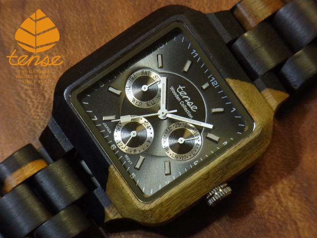 テンス【tense】スクエアモデル No.108 木製腕時計(インレイドサンダルウッド)1971年創業のカナダ木工専門技を結集し、匠が創り上げたTENSE木製腕時計(ウッドウォッチ)。テンス社日本総輸入元公式販売サイト。【日本総輸入元のメンテナンス保証付】