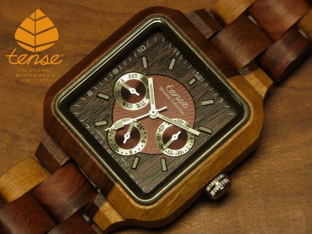 テンス【tense】スクエアモデル No.148木製腕時計(インレイドサンダルウッド)1971年創業のカナダ木工専門技を結集し、匠が創り上げたTENSE木製腕時計(ウッドウォッチ)。テンス社日本総輸入元公式販売サイト。【日本総輸入元のメンテナンス保証付】