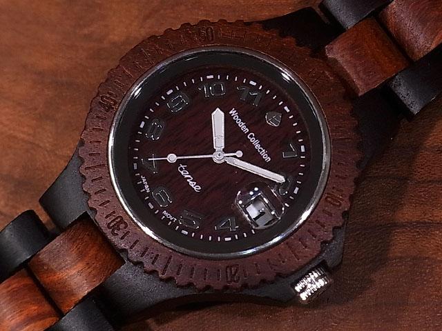 テンス【tense】アーバンモデル No.48 ダークサンダル & サンダルウッド使用1971年創業のカナダ木工専門技を結集し、匠が創り上げたTENSE木製腕時計(ウッドウォッチ)。テンス社日本総輸入元公式販売サイト。【日本総輸入元のメンテナンス保証付】