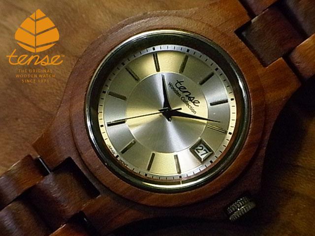 テンス【tense】トラディショナルモデル No.345 サンダルウッド使用1971年創業のカナダ木工専門技を結集し、匠が創り上げたTENSE木製腕時計(ウッドウォッチ)。テンス社日本総輸入元公式販売サイト。【日本総輸入元のメンテナンス保証付】