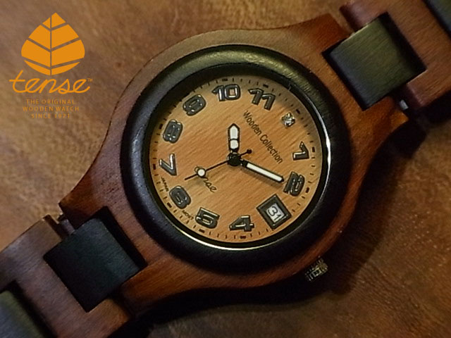 テンス【tense】シグネチャーG7509日付機能付モデル No.62ダーク&サンダルウッド使用1971年創業のカナダ木工専門技を結集し、匠が創り上げたTENSE木製腕時計(ウッドウォッチ)。テンス社日本総輸入元公式販売サイト。【日本総輸入元メンテナンス保証付】