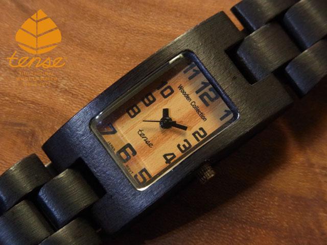 テンス【tense】レクタンギュラーモデル ダークサンダルウッド使用1971年創業のカナダ木工専門技を結集し、匠が創り上げたTENSE木製腕時計(ウッドウォッチ)。テンス社日本総輸入元公式販売サイト。【日本総輸入元のメンテナンス保証付】 No.90