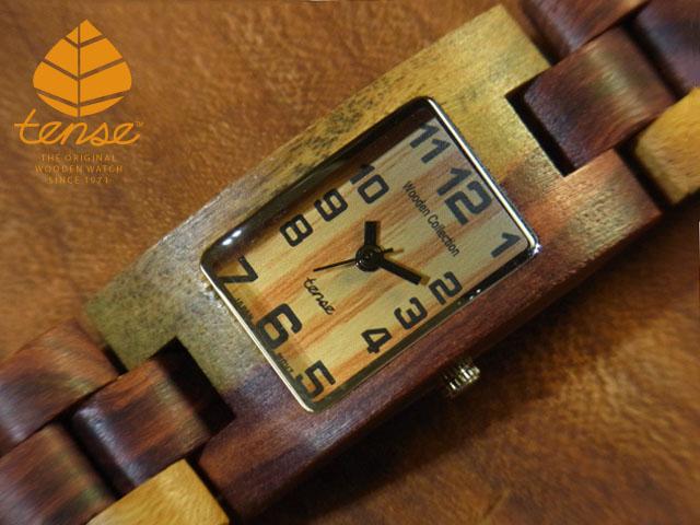 インレイドサンダルウッド使用1971年創業のカナダ木工専門技を結集し、匠が創り上げたTENSE木製腕時計(ウッドウォッチ)。テンス社日本総輸入元公式販売サイト。【日本総輸入元のメンテナンス保証付】 テンス【tense】レクタンギュラーモデル No.163