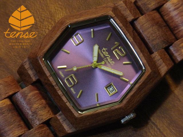 テンス【tense】ヘキサゴンモデル No.176 アフリカンローズウッド使用1971年創業のカナダ木工専門技を結集し、匠が創り上げたTENSE木製腕時計(ウッドウォッチ)。テンス社日本総輸入元公式販売サイト。【日本総輸入元のメンテナンス保証付】