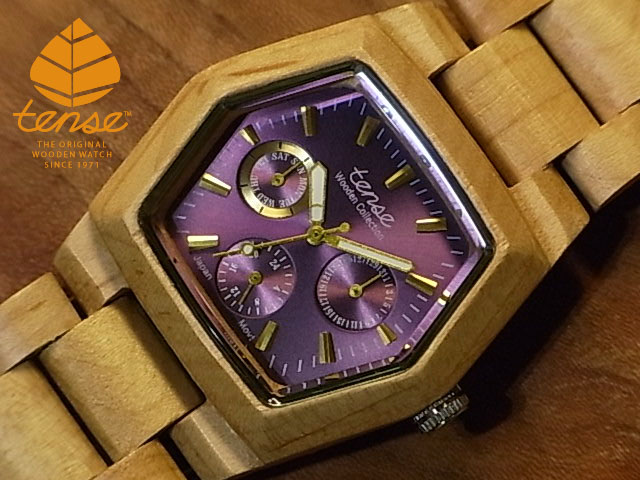 【人気No.1】 テンス【tense】ヘキサゴンモデル No.79 メイプルウッド使用1971年創業のカナダ木工専門技を結集し、匠が創り上げたTENSE木製腕時計(ウッドウォッチ)。テンス社日本総輸入元公式販売サイト。【日本総輸入元のメンテナンス保証付】, トスパ世界の国旗販売ショップ:6dc98d3f --- rishitms.com