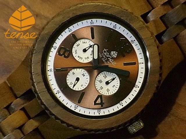 テンス【tense】グランドゥモデル No.408 ウォルナット使用1971年創業のカナダ木工専門技を結集し、匠が創り上げたTENSE(テンス)木製腕時計(ウッドウォッチ)。テンス社日本総輸入元公式販売サイト。【日本総輸入元のメンテナンス保証付】