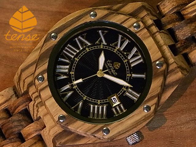 テンス【tense】オクタゴンプレステージモデル No.403ゼブラウッド使用1971年創業のカナダ木工専門技を結集し、匠が創り上げたTENSE(テンス)木製腕時計(ウッドウォッチ)。テンス社日本総輸入元公式販売サイト。【日本総輸入元のメンテナンス保証付】