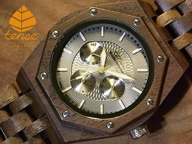 テンス【tense】オクタゴンプレミアムモデル No.415 ウォルナット使用1971年創業のカナダ木工専門技を結集し、匠が創り上げたTENSE(テンス)木製腕時計(ウッドウォッチ)。テンス社日本総輸入元公式販売サイト。【日本総輸入元のメンテナンス保証付】