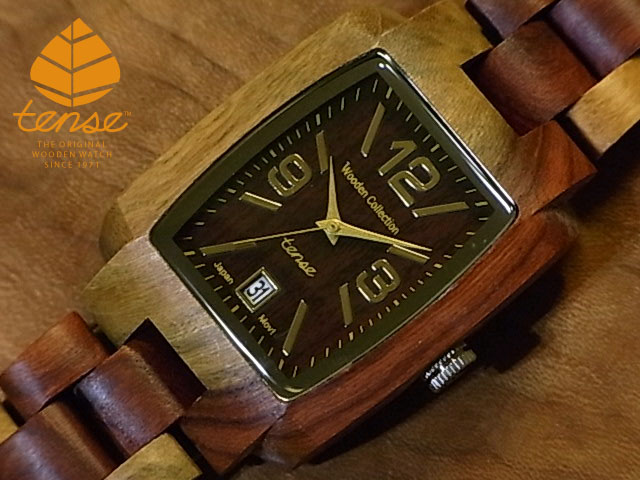 テンス【tense】トノーII モデル No.112 インレイドサンダルウッド使用1971年創業のカナダ木工専門技を結集し、匠が創り上げたTENSE木製腕時計(ウッドウォッチ)。テンス社日本総輸入元公式販売サイト。【日本総輸入元のメンテナンス保証付】