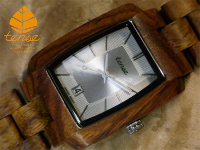 テンス【tense】トノーIVモデル No.510 木製腕時計(チーク)1971年創業のカナダ木工専門技を結集し、匠が創り上げたTENSE(テンス)木製腕時計(ウッドウォッチ)。テンス社日本総輸入元公式販売サイト。【日本総輸入元のメンテナンス保証付】