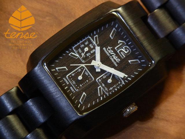 テンス【tense】トノーIII モデル No.117 ダークサンダルウッド1971年創業のカナダ木工専門技を結集し、匠が創り上げたTENSE木製腕時計(ウッドウォッチ)。テンス社日本総輸入元公式販売サイト。【日本総輸入元のメンテナンス保証付】