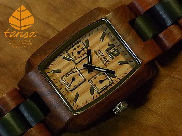 モデル テンス【tense】トノーIII No.119 サンダル&ダークサンダルウッド使用1971年創業のカナダ木工専門技を結集し、匠が創り上げたTENSE木製腕時計(ウッドウォッチ)。テンス社日本総輸入元公式販売サイト。【日本総輸入元のメンテナンス保証付】