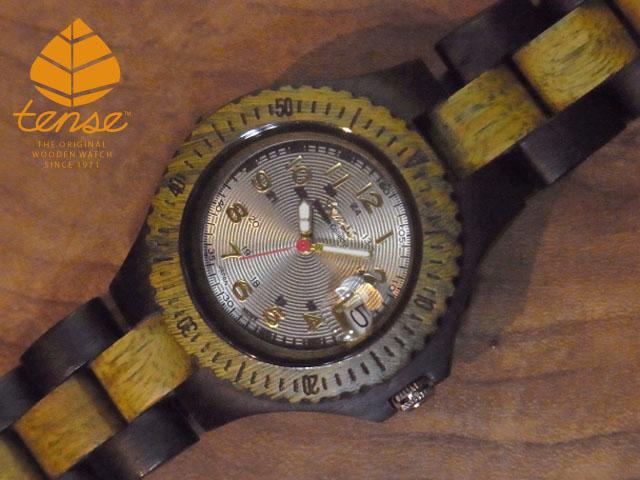 テンス【tense】プチアーバンモデル No.197-N ダーク&グリーンサンダルウッ使用1971年創業のカナダ木工専門技を結集し、匠が創り上げたTENSE木製腕時計(ウッドウォッチ)。テンス社日本総輸入元公式販売サイト。【日本総輸入元のメンテナンス保証付】